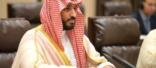 Photo: Mohammed bin Salman pictured at a conference.