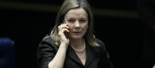 Presidente do PT, Gleisi Hoffmann, tentou se explicar sobre frase infeliz
