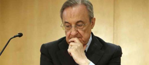 Florentino Perez disgustado por el invierno