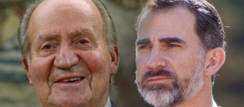 Juan Carlos I y Felipe VI en imagen