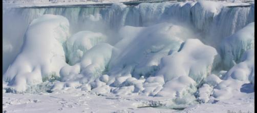 Niagara Falls in a deep freeze. - [Image credit: Peter Granka via Flickr]