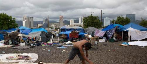 Sanctuary City for the the impoverished in Hawaii (Image via The Modern Socialist/Sean McGill)