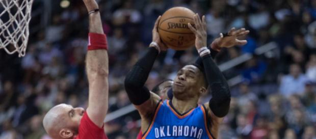 Russell Westbrook was named Western Conference Player of the Month for December. Image Source: Flickr | Keith Allison