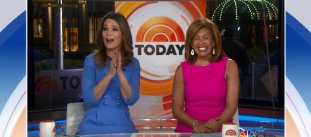 Savannah Guthrie repeatedly broke the New Year news that Hoda Kotb is her 'Today' co-anchor. - [TODAY / YouTube screencap]