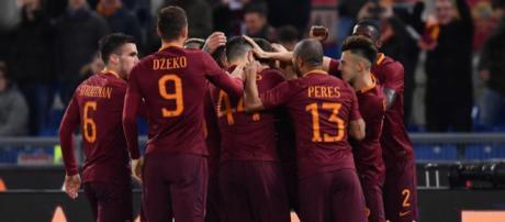 Campionato Serie A - A.s.Roma, esultanza
