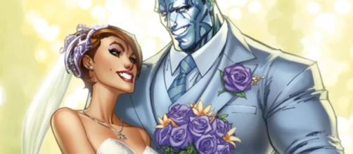 Coloso y Kitty en lo que podría ser la boda del siglo para Marvel