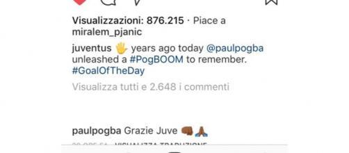 Juventus, Pogba ringrazia i bianconeri