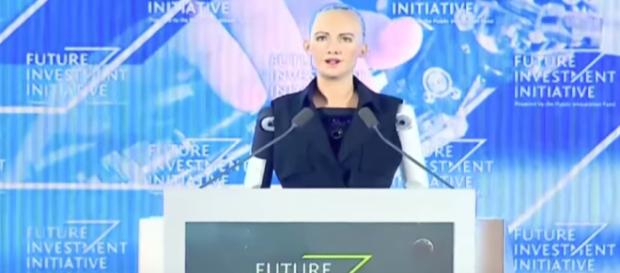 Interview With The Lifelike Hot Robot Named Sophia (Full) Image credit - CNBC | YouTube