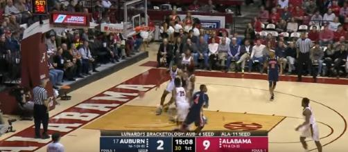 Auburn playing against Alabama. - [SEC Sports / YouTube screencap]