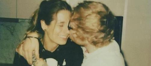 Ed Sheeran announces engagement to his high school sweetheart. [Image via Ed Sheeran/Instagram]