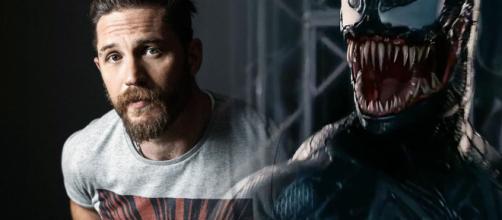 Tom Hardy como Venom en la nueva película de terror.