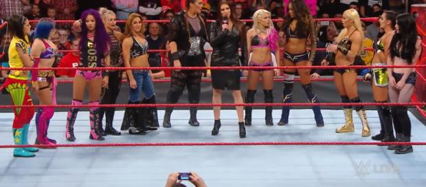 A month ago, Stephanie McMahon announced the first Women's Royal Rumble match. [Image : WWE/YouTube screencap]