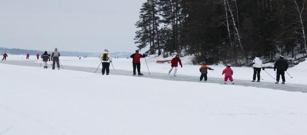 Fun in the snow. - [By Anneli Salo / Wikimedia Commons]