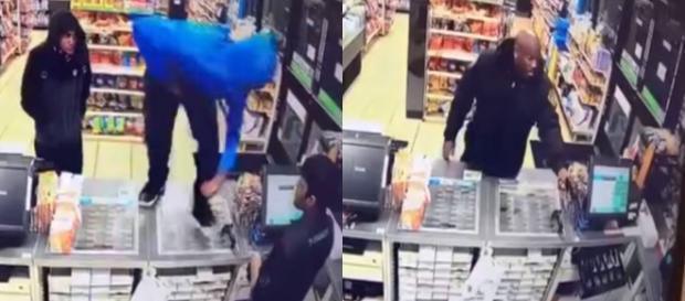 Ochroniarz załatwił dwóch młodocianych bandytów (screen: Facebook).