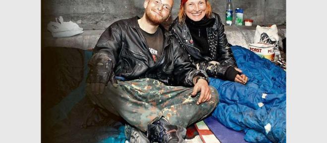 Hilfe für Hamburger Obdachlose. Spendenaktion.