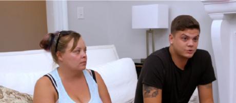 Teen Mom OG stars Catelynn Lowell & Tyler Baltierra (Image via YouTube screengrab/MTV)