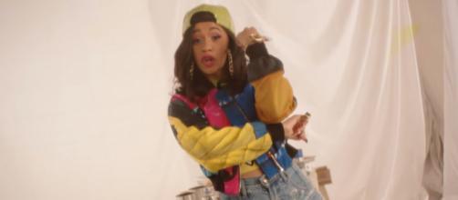 Cardi B in Bruno Mars' 'Finesse' music video. - [Bruno Mars / YouTube screencap]