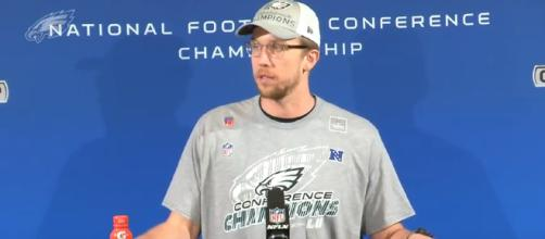 Foles after winning the NFC title - (Image Credit- Philadelphia Eagles / Youtube screencap)
