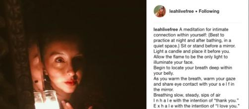 How to awaken the inner self with just a mirror and a candle - Image credit - Instagram: @leahlivefree