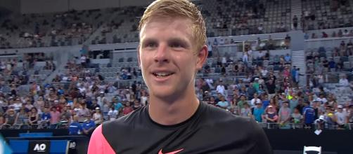 Kyle Edmund is iinto his first Grand Slam quarterfinal/ Photo: screenshot via Australian Open TV channel on YouTube