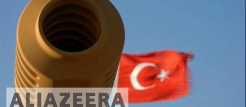 Picture of Turkish army Tank gun. - [Al Jazeera Channel / YouTube screencap]