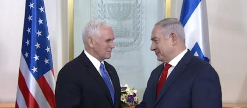 PM Netanyahu Meets US VP Mike Pence- IsraeliPM YouTube Cap