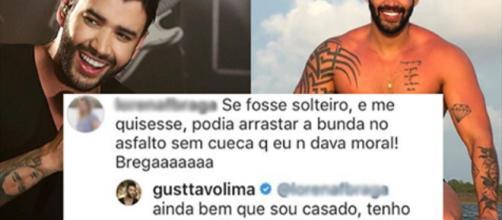 Uma seguidora comentou no Instagram do cantor Gusttavo Lima.