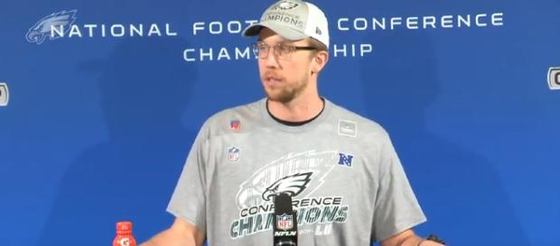 Foles after winning the NFC title - (Image Credit- Philadelphia Eagles / Youtube screencap)