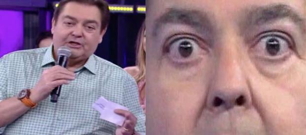 O apresentador teve que agir rápido ( Reprodução - Globo )