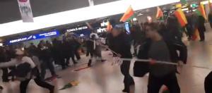 Eskalation zwischen kurdischen Demonstranten und einer türkischen Gruppierung