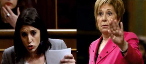 Irene Montero y Celia Villalobos