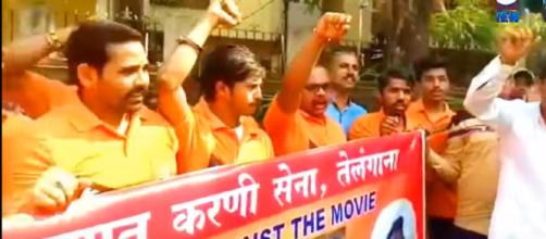 Padmavat ( Padmavati ) Still In Controversy | Protest To Not Release Movie In Hyderabad | Image credit - Sach News | YouTube
