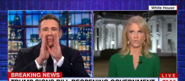 Kellyanne Conway on CNN, via YouTube