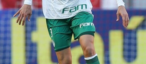 O atleta atuou pelo Verdão por empréstimo. (Foto Reprodução).