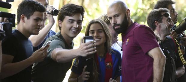 Salida inminente de Javier Macherano del Club Barcelona