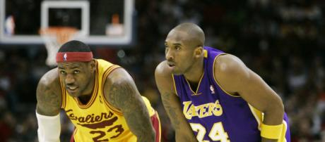 lebron james vs kobe bryant dos grandes