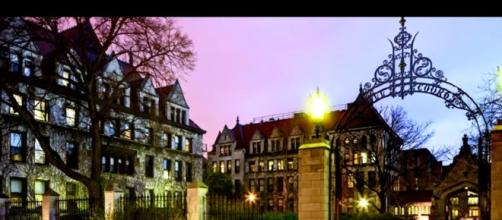 Chicago college campus. - [Stillwater Sports Cards / YouTube screencap]