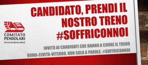 Comitato Pendolari Roma Nord lancia un contest per tutti i politici #SoffriConNoi