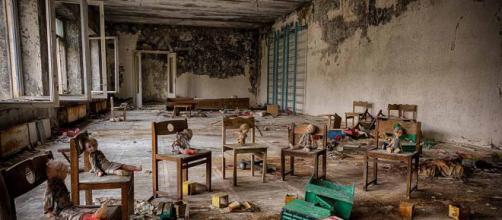 Escola primária na cidade de Pripyat (imagem retirada do Google)
