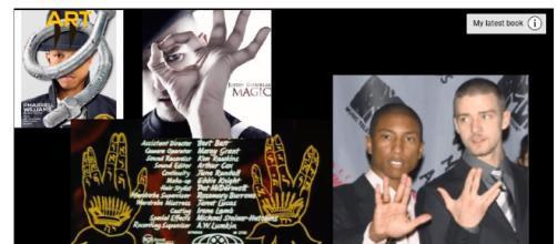 Justin Timberlake uses occult symbolism. (Image via Illuminatiwatcher1 Youtube screencap).