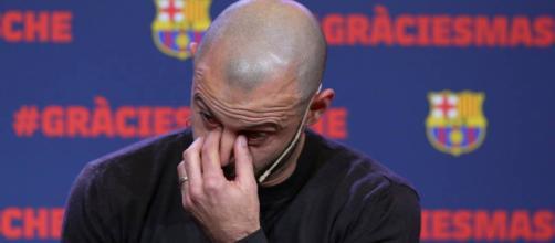 Mascherano no pudo contener las lágrimas en su despedida.