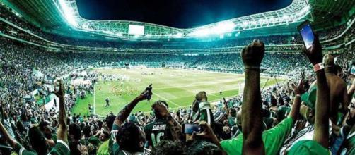 Torcida do Palmeiras está animada
