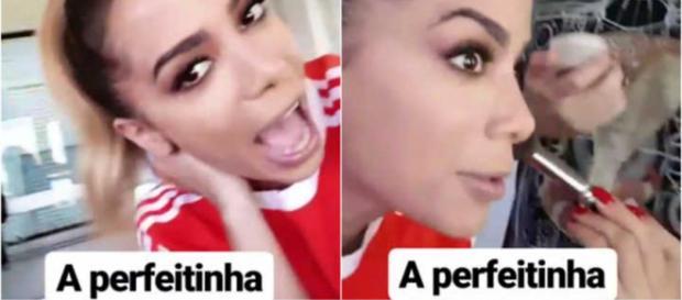 Anitta alfinetou ''rival'' através de alguns stories em seu Instagram. Fotos: Reprodução.