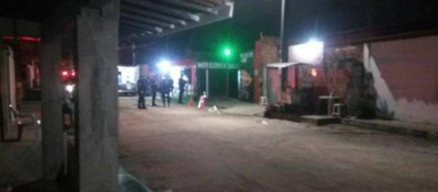 Casa de shows Forró do Gado, local em que ocorreu a chacina. (Foto Reprodução).