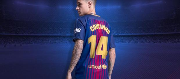 Coutinho portara la camiseta número 14 en el Barcelona