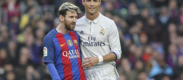 Cristiano Ronaldo y Messi juntos en un Clásico