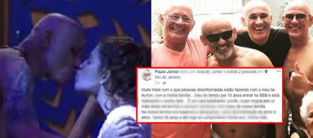 Irmão do BBB Ayrton Lima morreu no último domingo ( Reprodução - Facebook )