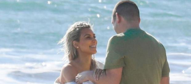 Kim Kardashian esteve muito divertida no ensaio