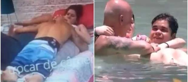 Pai é flagrado em cenas suspeitas com a filha (Fotos: Captura de vídeo)