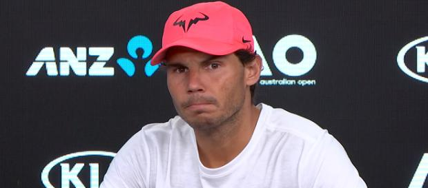 Rafael Nadal during a press conference at the 2018 AO/ Photo: screenshot via Australian Open TV channel on YouTube